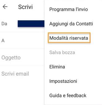 Come funziona la Modalità riservata su Gmail