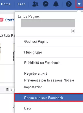 nuova interfaccia Facebook
