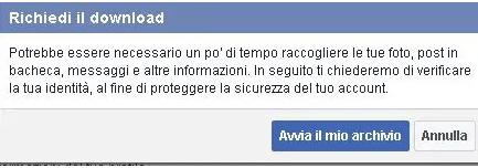 Come scaricare copia dei dati personali su Facebook