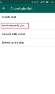Come nascondere una conversazione in WhatsApp su Android