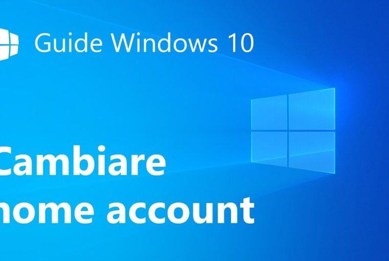 Come modificare nome PC dalle impostazioni di Windows 10