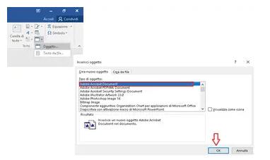 Come poter inserire correttamente un PDF in Word