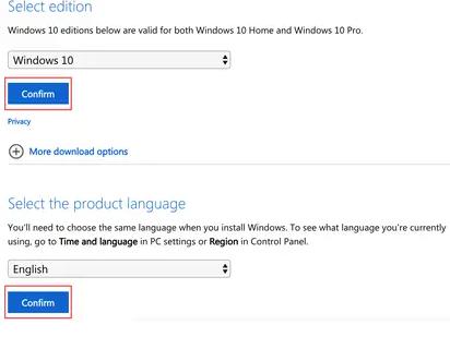 Come effettuare il download manualmente l'immagine ISO di Windows 10