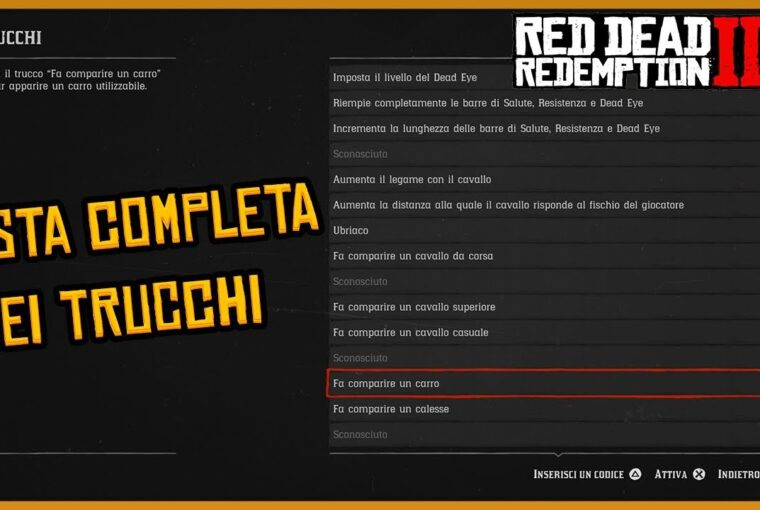 Trucchi di Red Dead Redemption 2