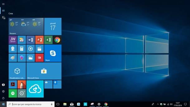 Come modificare a piacimento il colore del menu' start di Windows 10