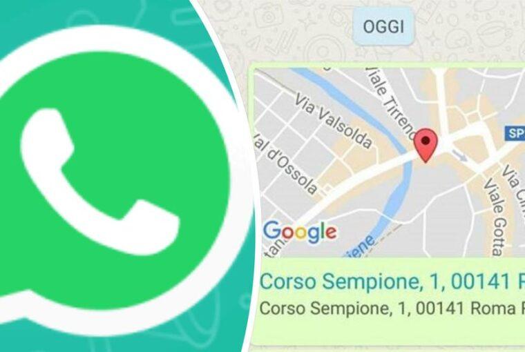 Come inviare la vostra posizione o il numero di un contatto con Whatsapp