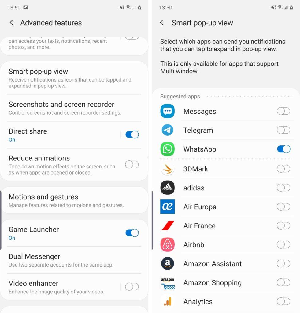 Come utilizzare la funzione Smart pop-up view su Samsung Galaxy Note 10