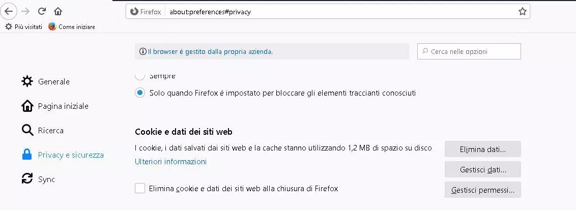Come attivare i cookie su Mozilla Firefox